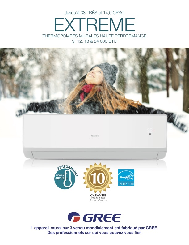 Gree EXTREME Thermopompe